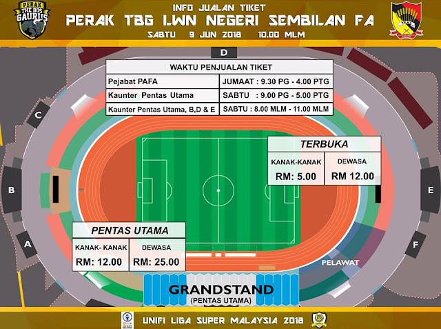 Live Perak Vs Negeri Sembilan Liga Super 9 Jun 2018