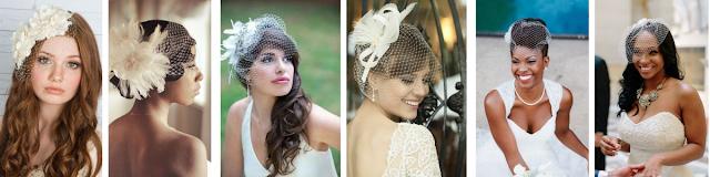 penteados de noivas usando voillete com cabelos presos