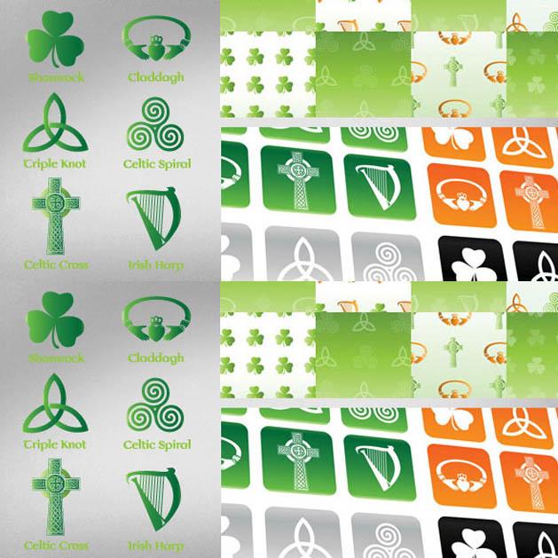 Irish Celtic Symbol Vector Set Vectorkh