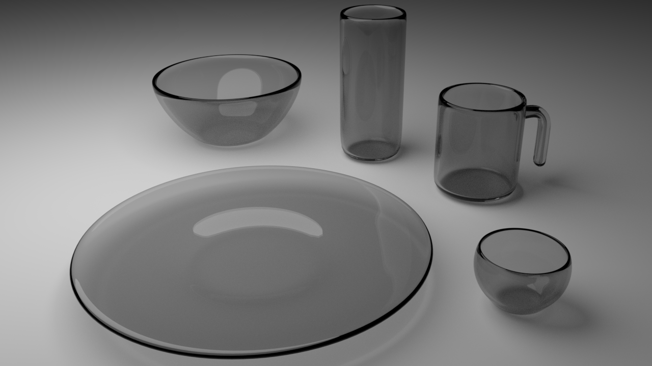 Free 3D Glass Tableware .blend