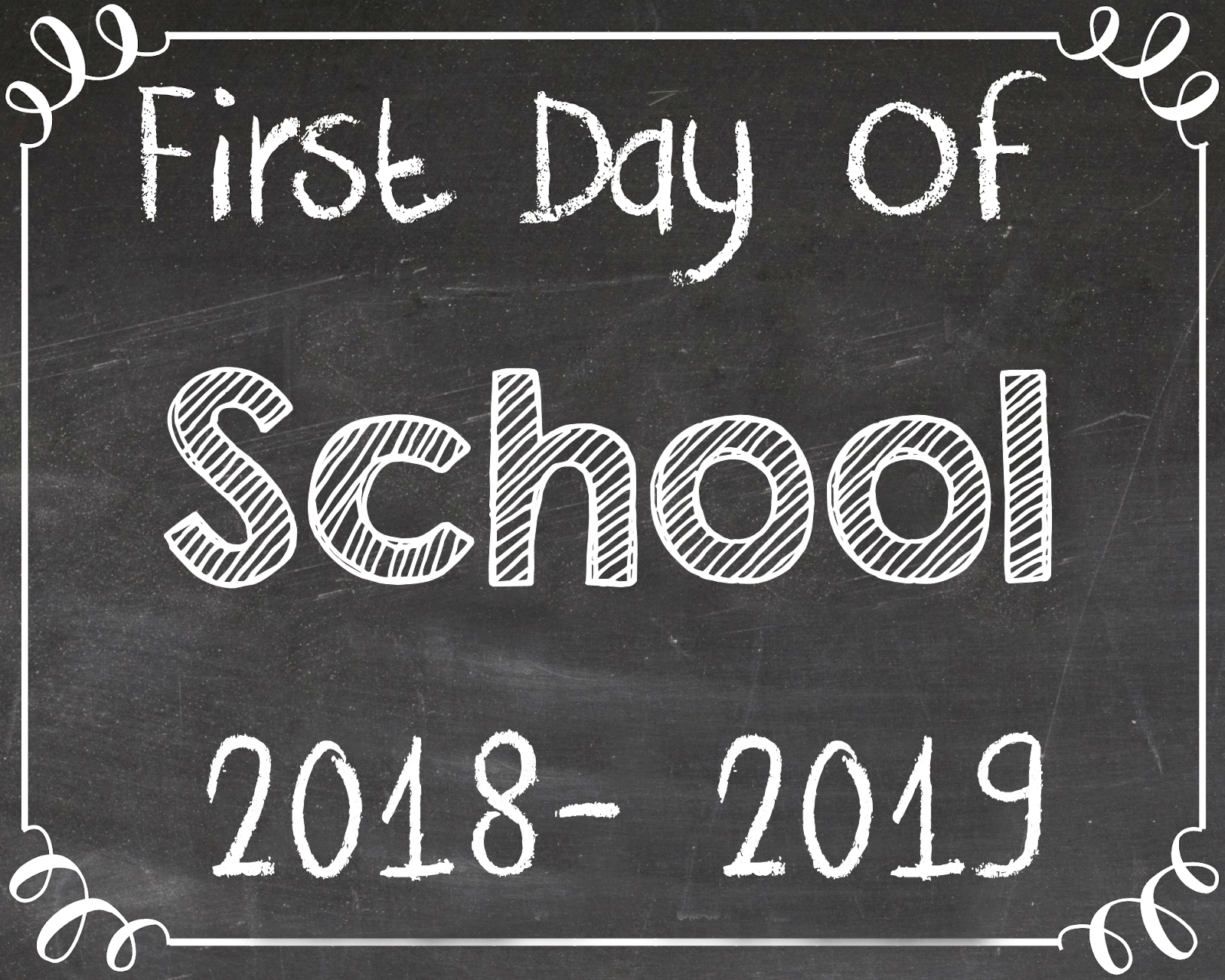 Free First And Last Day Of School Printables