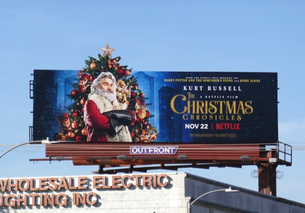 Christmas Chronicles extension cut-out billboard