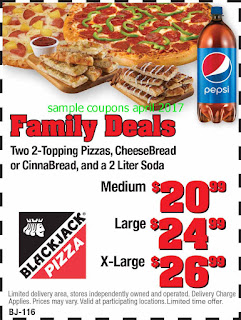 free Black Jack Pizza coupons for april 2017