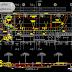 مخطط مشروع مسبح منزلي كبير مع المظخة اوتوكاد dwg