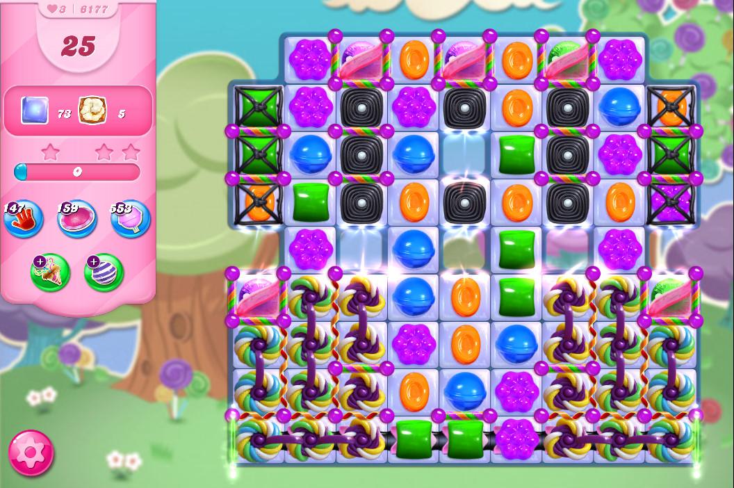Candy Crush Saga level 6177