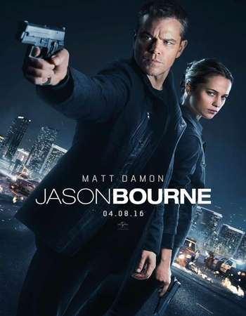 Poster Of Jason Bourne 2016 Dual Audio 720p BRRip ORG [Hindi - English] ESubs Free Download Watch Online downloadhub.in