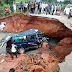 Passengers Stranded As Erosion Splits Road Into Two
