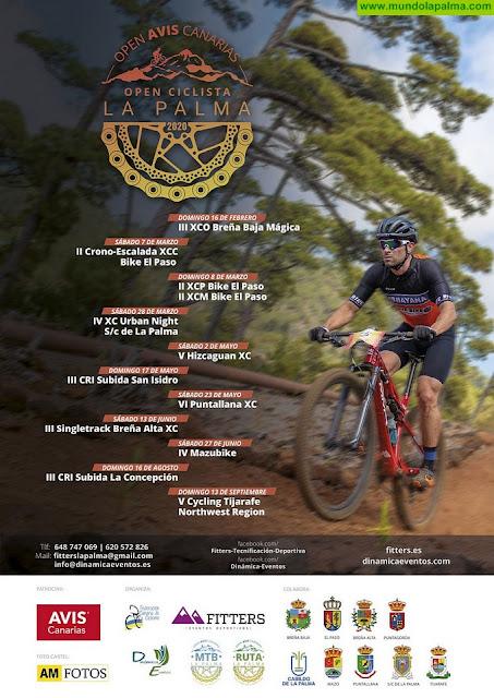 El Cabildo colabora con el 'Open Ciclista Avis Canarias La Palma 2020' que celebrará 11 pruebas en ocho municipios de la isla