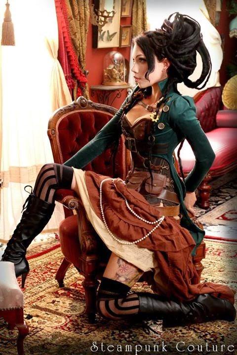 steampunk women clothing jacket coat bustier corset