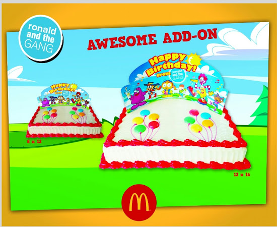Birthday cakes for McDo Party