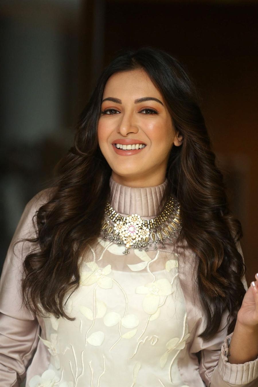 Indian Heroine Catherine Tresa at Vadaladu Movie Interview