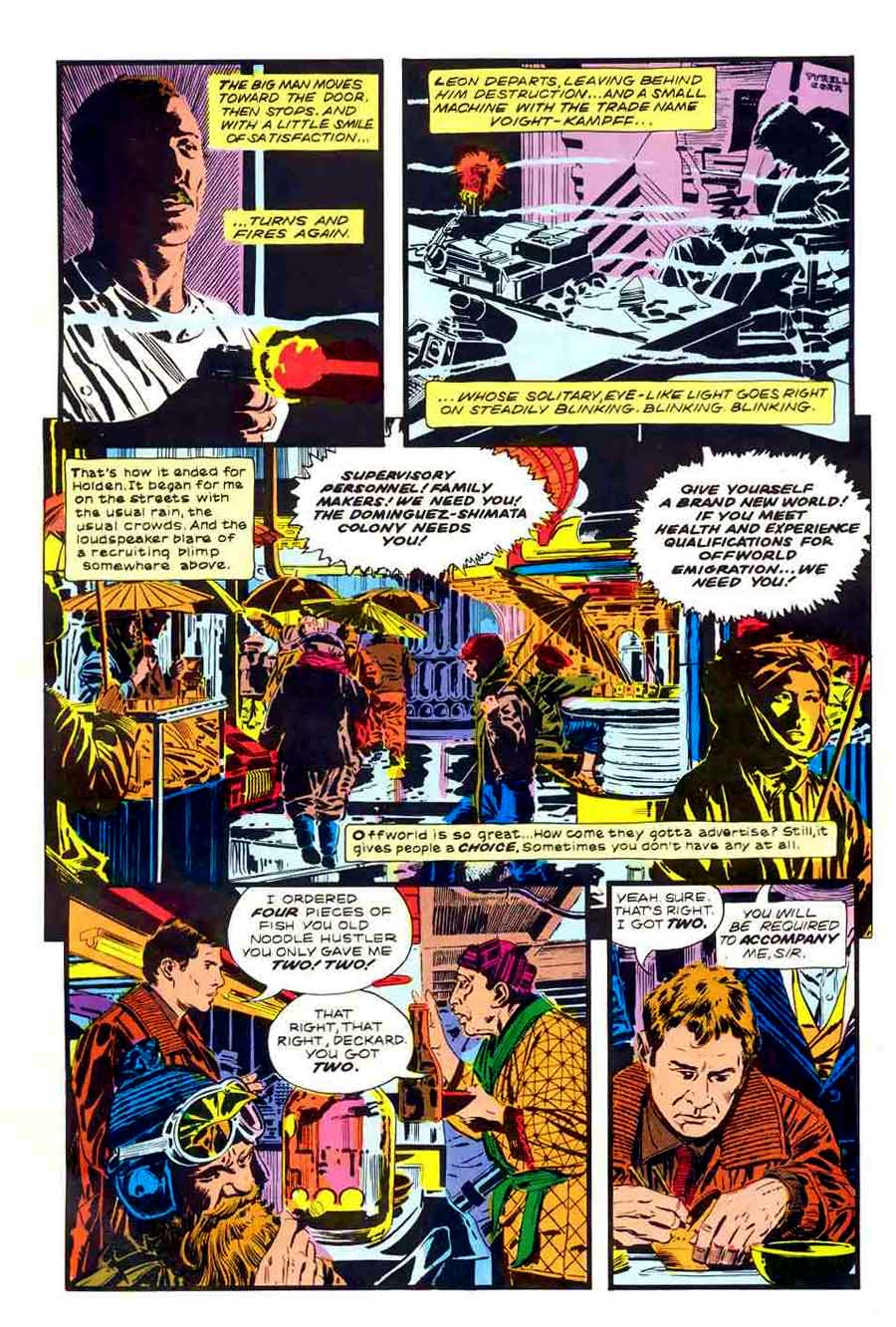 Marvel Super Special #22 / Blade Runner - Al Williamson page art
