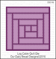 ODBD Custom Log Cabin Quilt Die