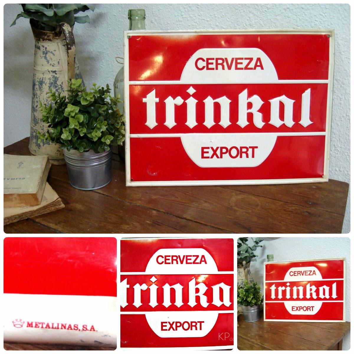 Comprar carteles de chapa vintage para decoración. Carteles de cerveza antiguos