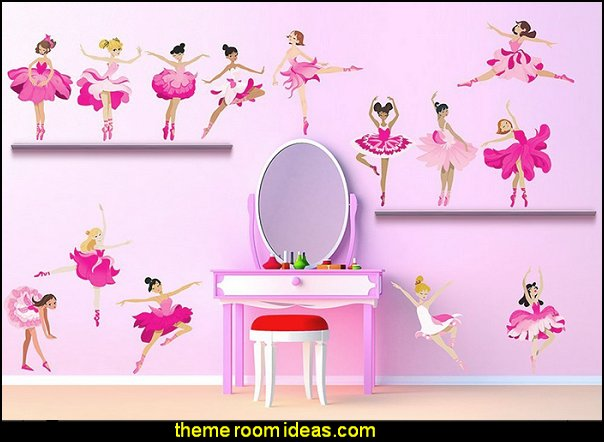 Baby Girl Nursery Removable Wallpaper Decorating Theme Bedrooms Maries Manor Ballerina