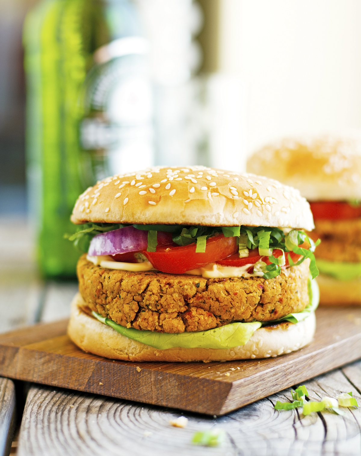 (Vegan) Sun-Dried Tomato and Chickpea Burgers
