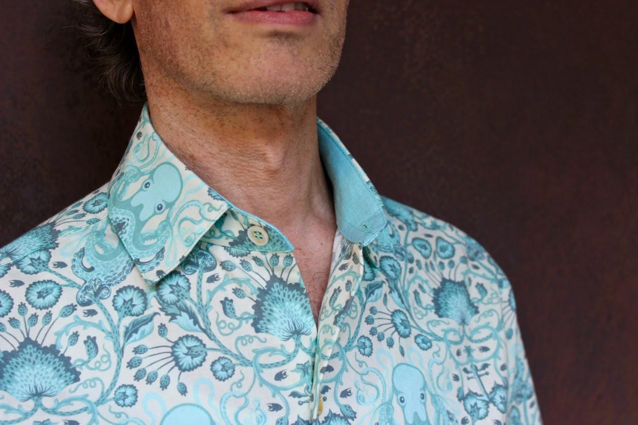 b7f5e62fcdd Michael Models His Octopus-print Shirt | male pattern boldness ...