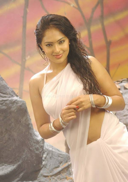 Nikesha Patel Hot White Saree