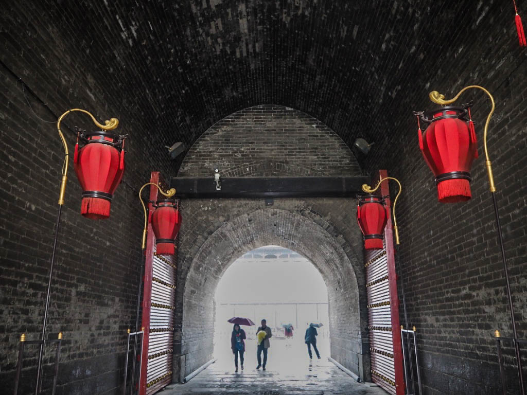 Entrance to Xi'an City Walls in China