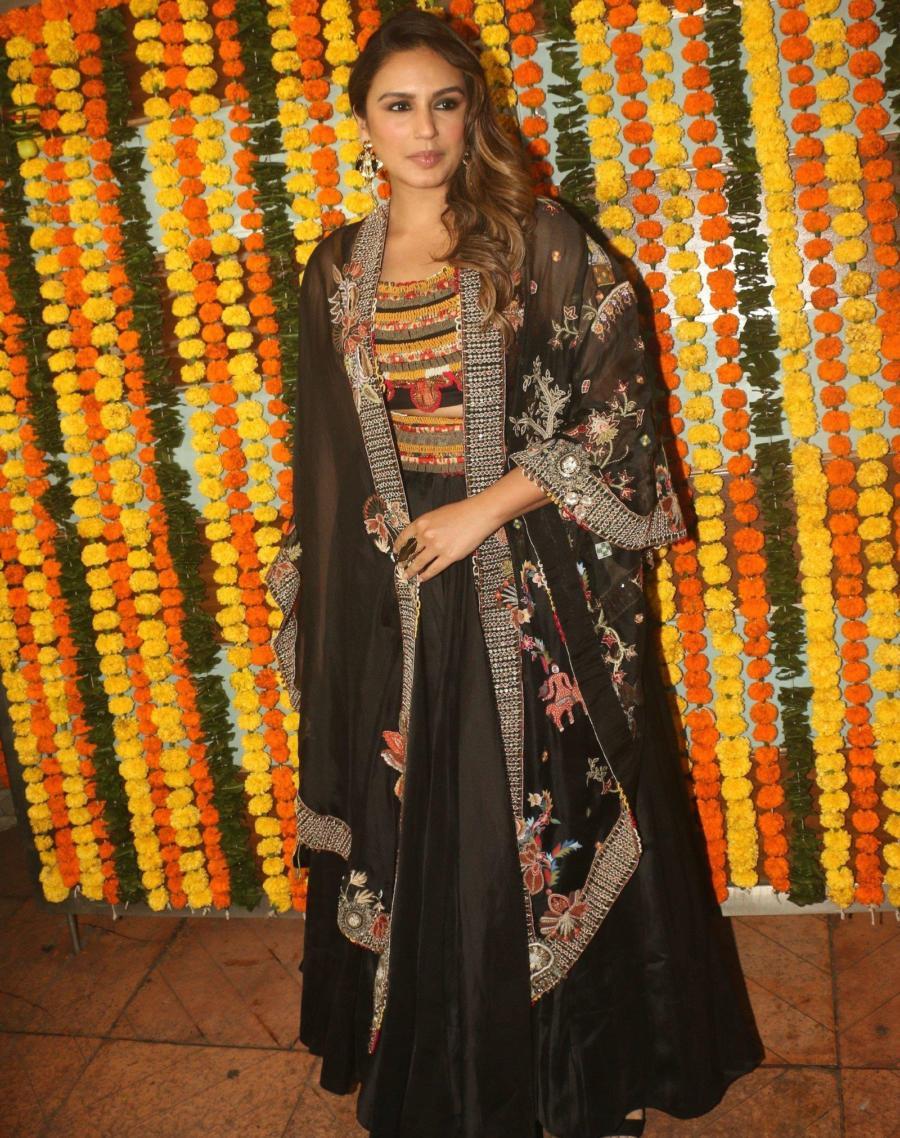 Indian Actress Huma Qureshi at Ekta Kapoor's Diwali Party In Mumbai
