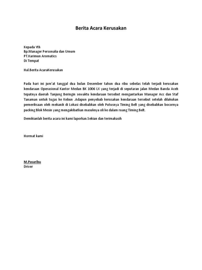 Contoh Surat Berita Acara Untuk Berbagai Keperluan Terlengkap