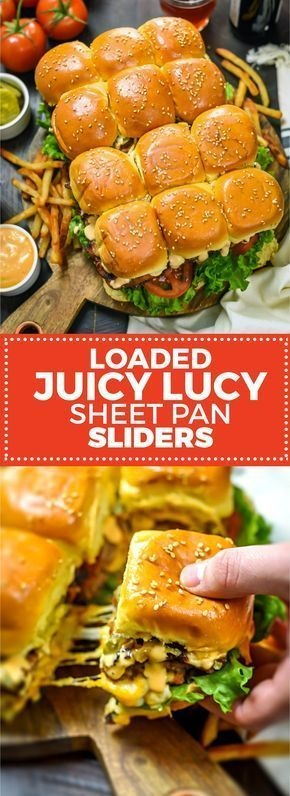 Loaded Juicy Lucy Sheet Pan Sliders