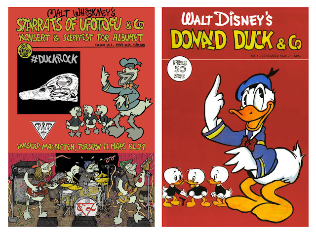 #DuckRock release poster and the cover of Donald Duck & Co 1/1948