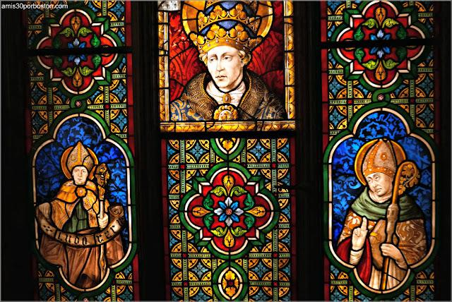 Vidrieras del Salón Gótico de Marble House, Newport