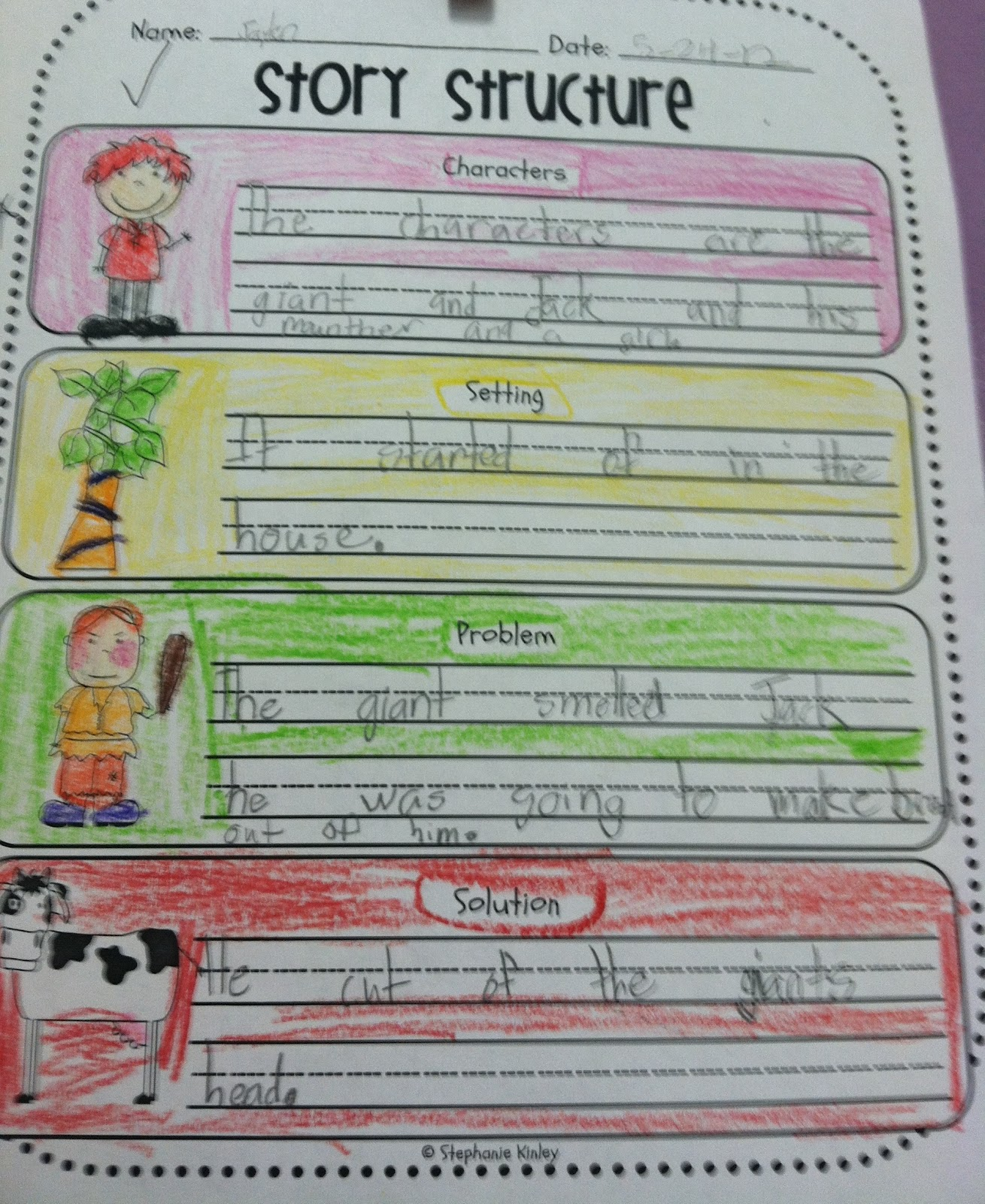 First Grade Fabulous Fish Jack And The Beanstalk