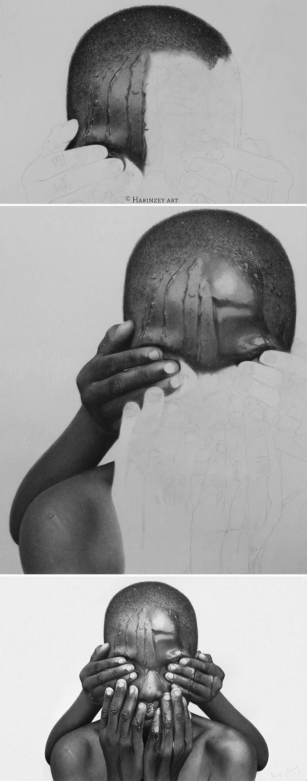 Luar biasa! Realistis Pensil Gambar Oleh Seniman Nigeria ini Terlihat Lebih Nyata Dari Foto