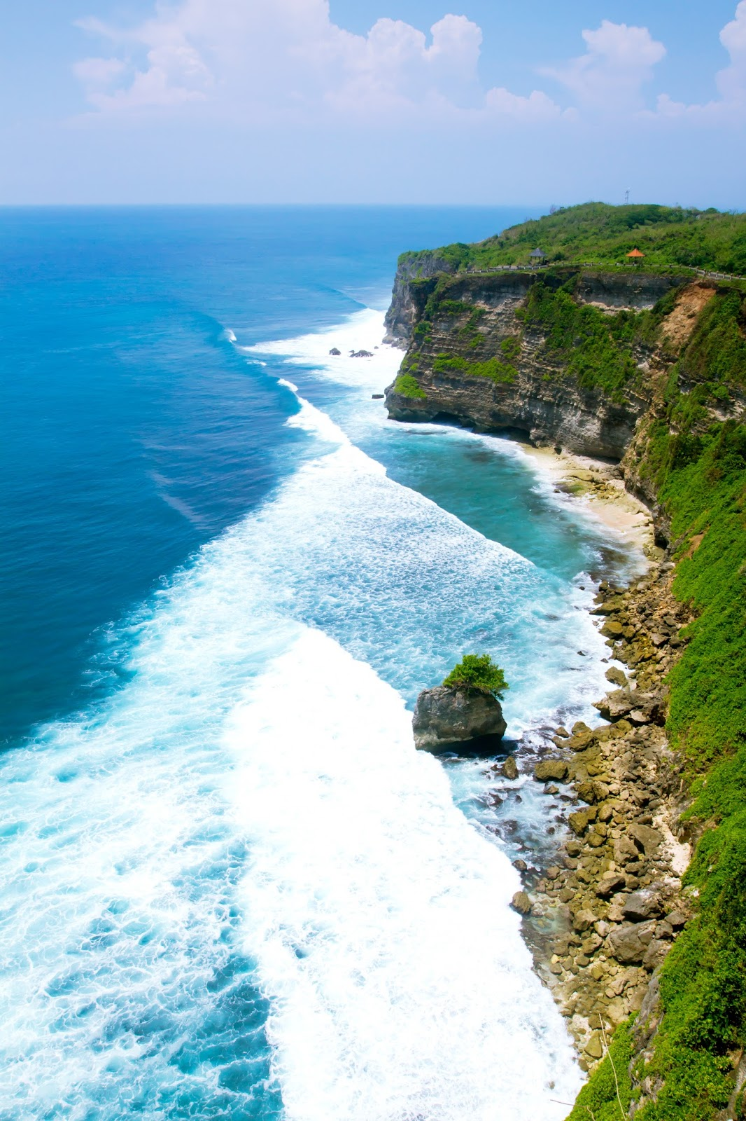 beautiful views at Uluwatu Temple in Bali, Indonesia
