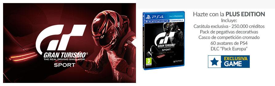 Da el salto a Gran Turismo Sports con la completa edición exclusiva de GAME
