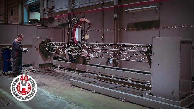 Роботизированное производство решётчатых колонн