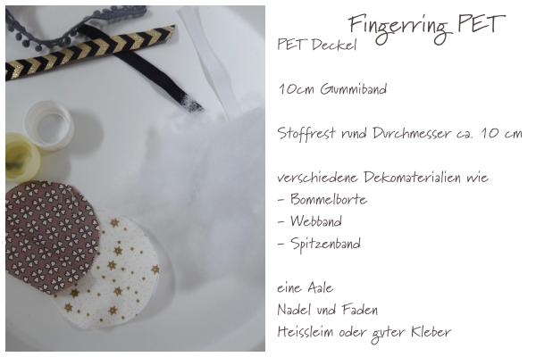 mit Strich und Faden: Fingerring aus PET Materialien