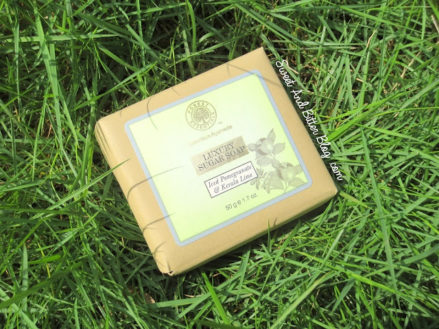 Forest Essentials Iced Pomegranate & Kerala Lime Luxury Sugar Soap Review