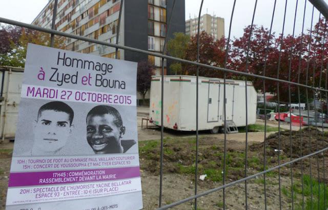 Cartel de las víctimas de Clichy Montfermeil