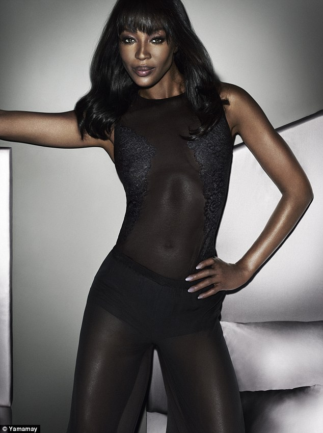 Naomi Campbell models her new Yamamay Lingerie Collection