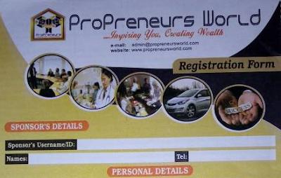 HOW TO REGISTER /JOIN PROPRENEURS WORLD NEW NETWORK MARKETING BUSINESS