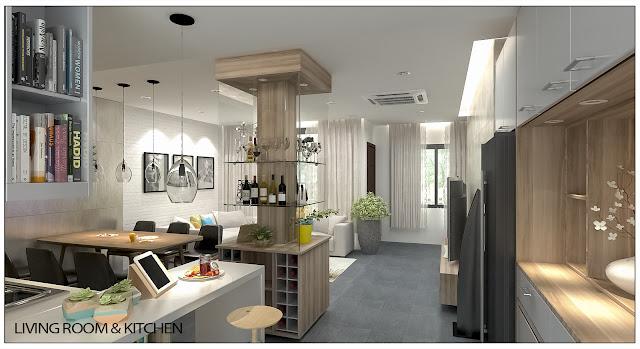 Ảnh minh họa Livingroom &kitchen3 liền kề thanh hà