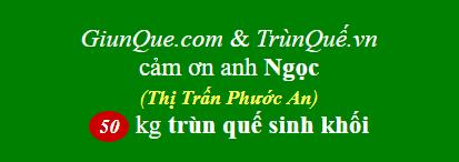 Trùn quế Phước An: cảm ơn anh Ngọc mua 50kg trùn quế sinh khối