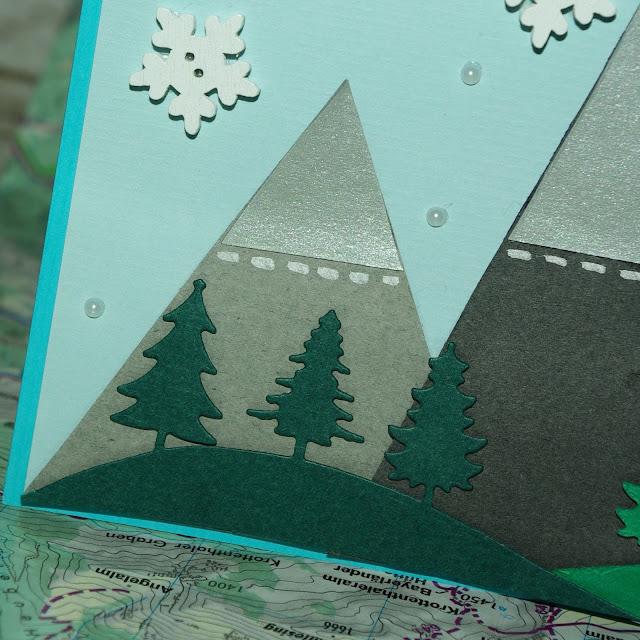 [DIY] Bergige Geburtstagskarte für Bergfreunde, Wanderer, Skifahrer und Kletterer