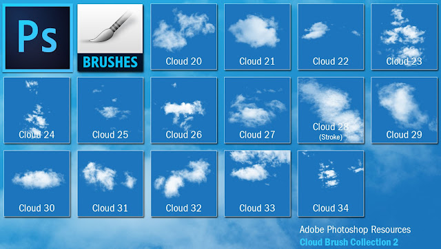 Share bộ brush vẽ trời mây cho photoshop