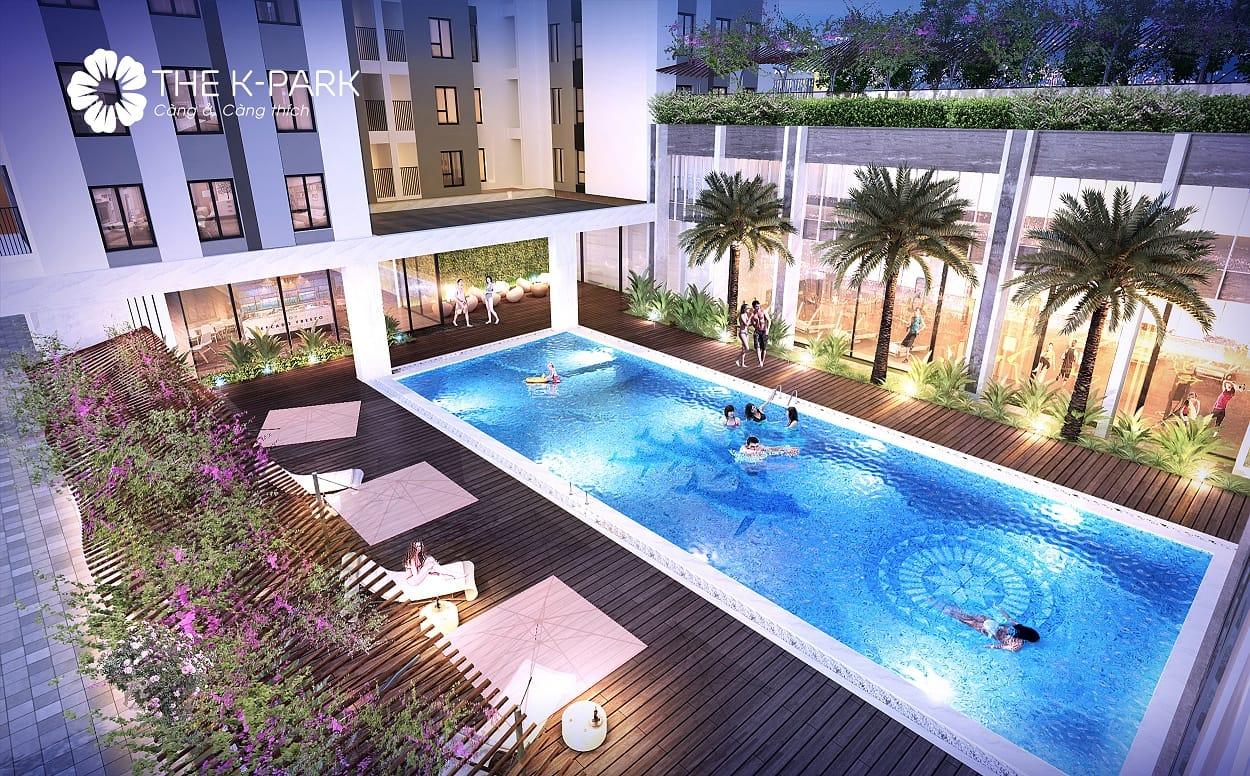 Bể bơi chung cư The K Park Văn Phú