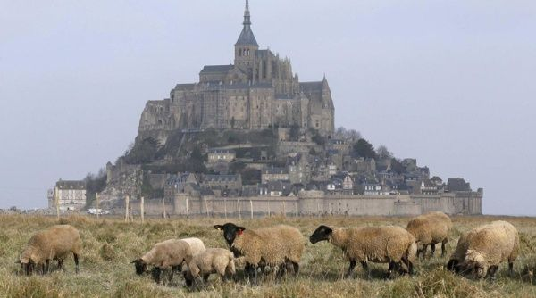 Arqueólogos descubren necrópolis bajo el Monte Saint Michel