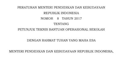 Download Juknis BOS 2018 pdf SD SMP SMA SMK Terbaru