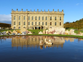 Chatsworth with current sculpture exhibition in foreground