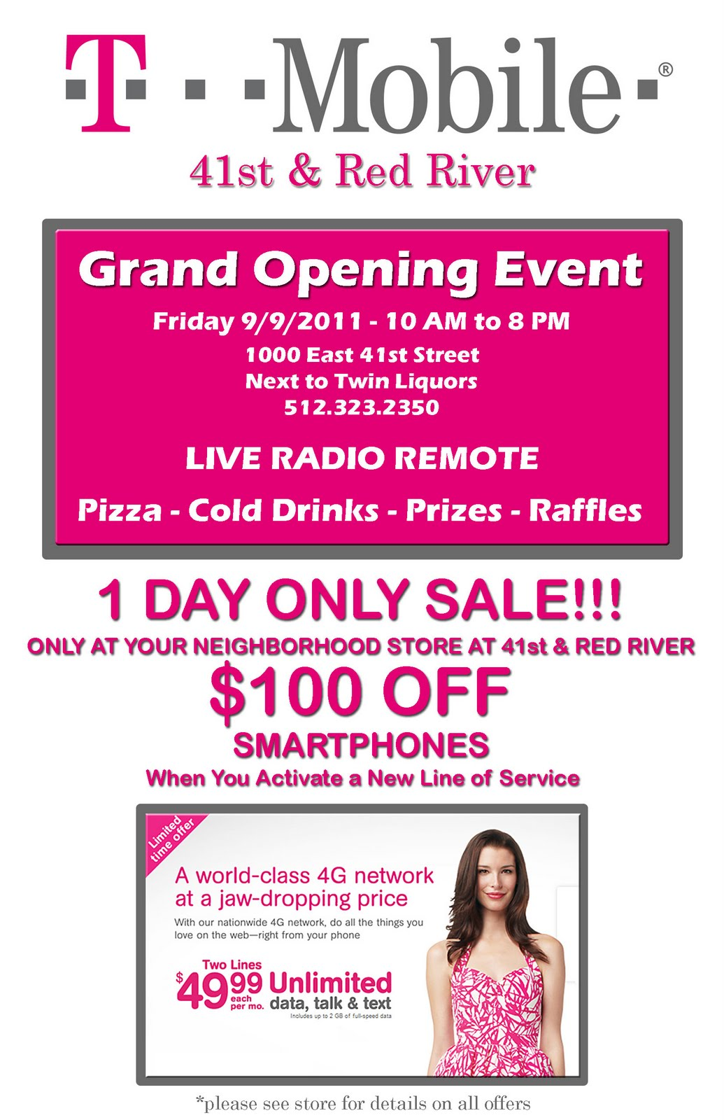 T Mobile West Anderson 41st Red River Grand Opening Event