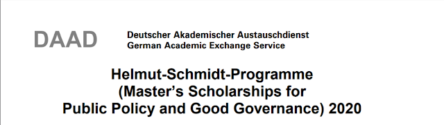 DAAD Scholarship: Master's Scholarships for Public Policy and Good Governance 2020 in Germany (Deadline: July 31)