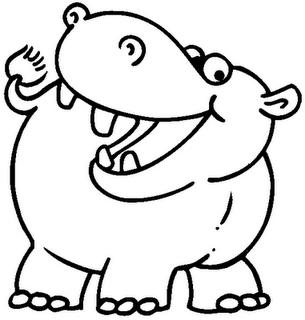 Hipopotamo Para Colorear 4 Dibujo