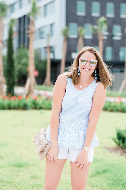 Preppy Summer Outfit // Pugs & Pearls Blog